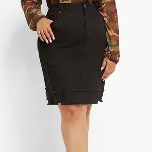 Dresses & Skirts - Black distressed skirt